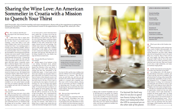 Sharing the Wine Love: An American Sommelier in Croatia with a Mission to Quench Your Thirst