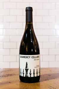 Gramercy Cellars Syrah 2011 (photo taken from website)