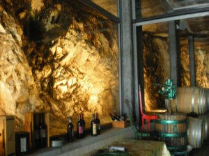 Inside Satta's winery.